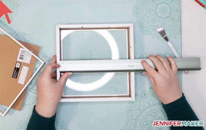 Measuring the inside dimension of a shadow box display frame