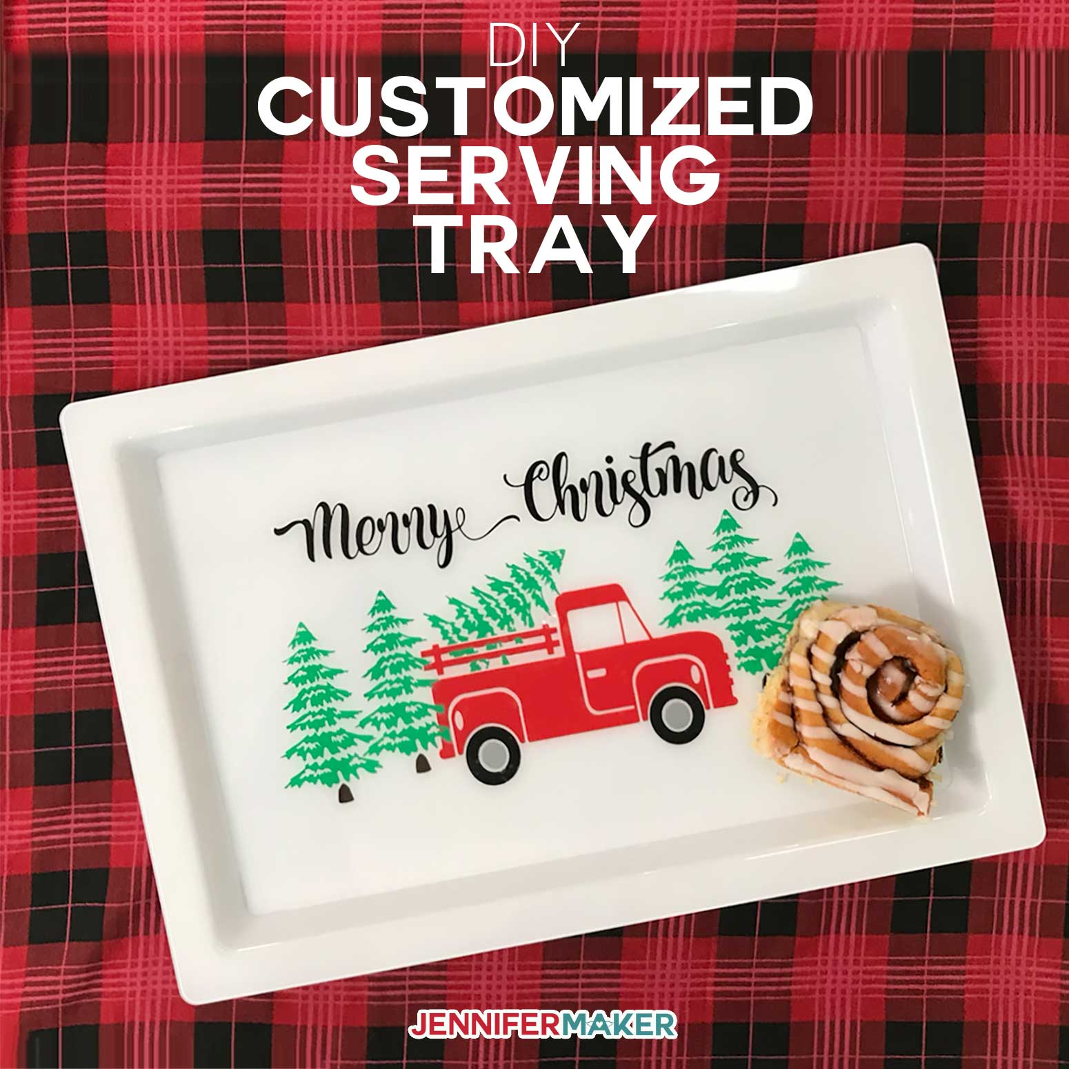 Customized Serving Tray With Vinyl Food Safe Jennifer Maker