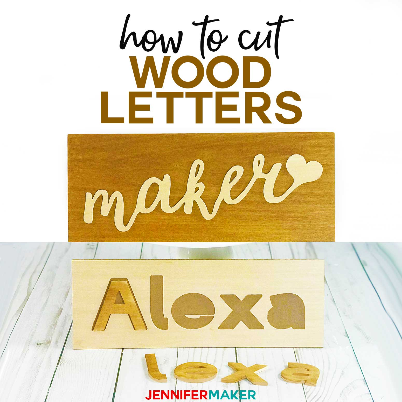 Make The Cut >> Cut Wood Letters With Cricut Names Cake Toppers Puzzles