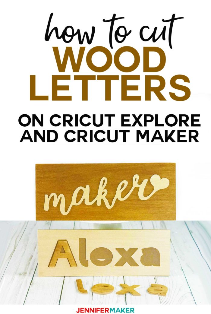 How to cut wood letters on a Cricut to make signs, name puzzles, monograms, and cake toppers! #cricutexplore #cricutmaker #wood #puzzle #caketopper #crafts #cricutmade