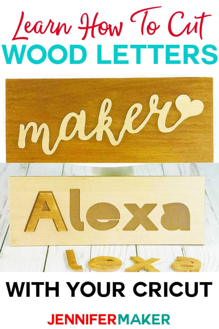 Learn how to cut wood to make names, letters and monograms on the Cricut! These make great personalized signs, puzzles, and cake toppers!  #cricut #cricutmade #cricutmaker #cricutexplore #diy #tutorial