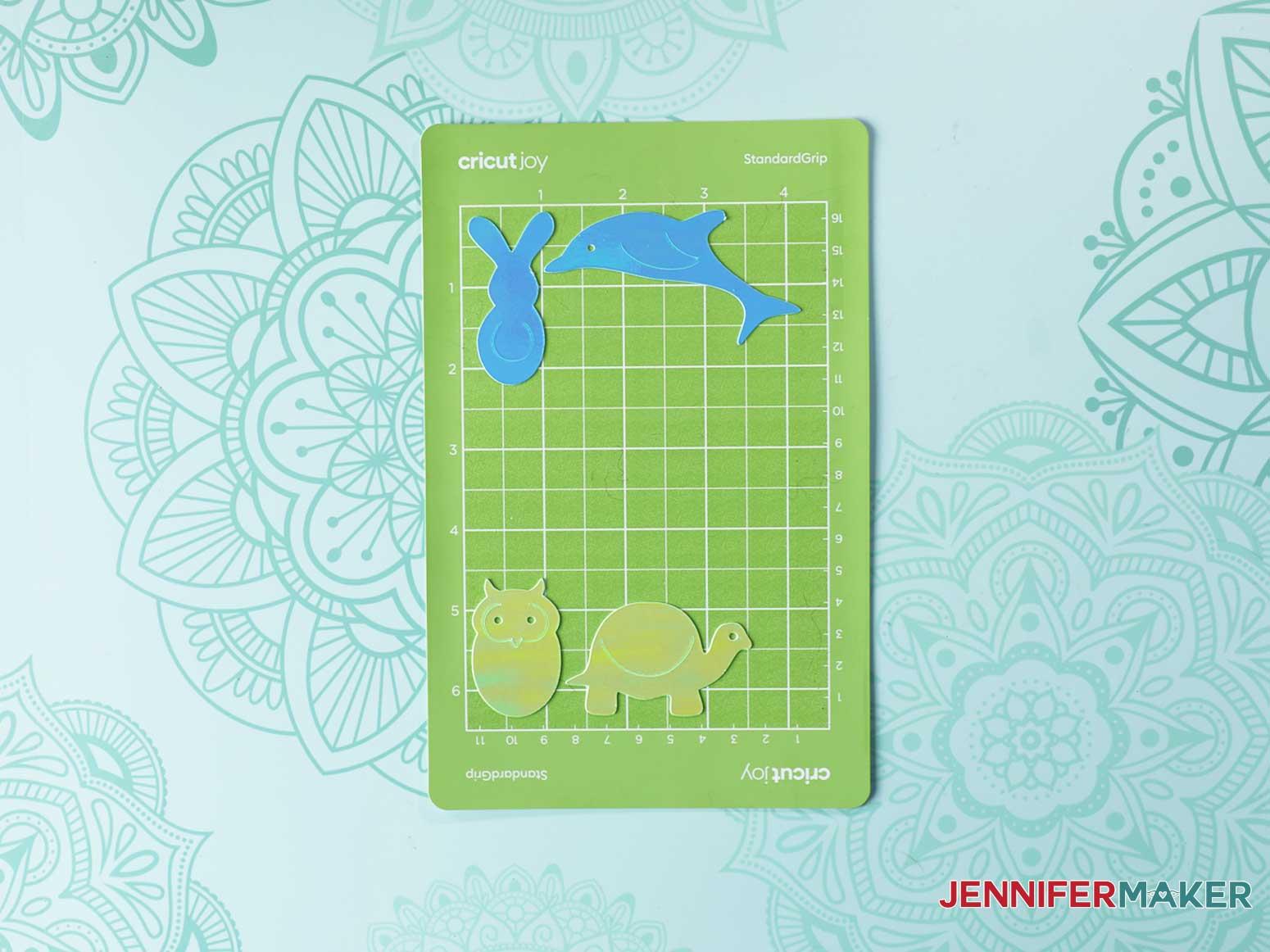 Animal Paperclips on Cricut Joy mat