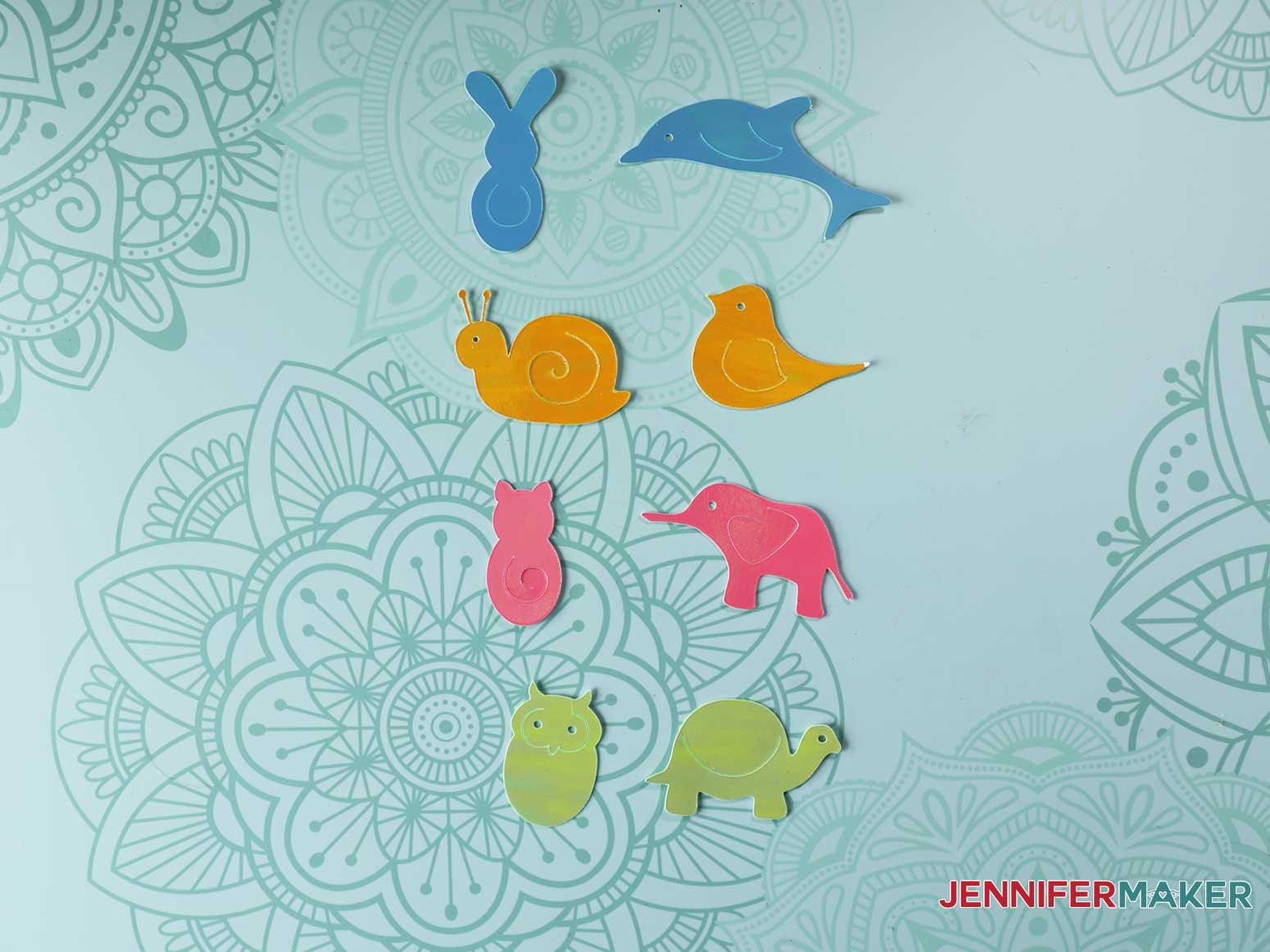 Animal Paperclips cut on Cricut Joy