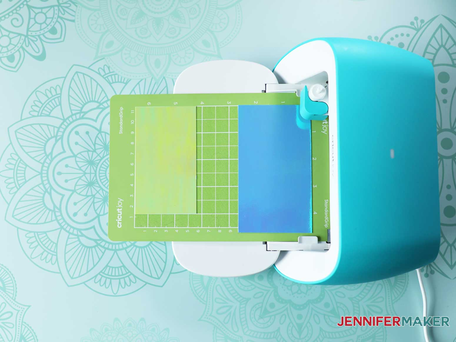Load Animal Paperclips paper and mat into Cricut Joy