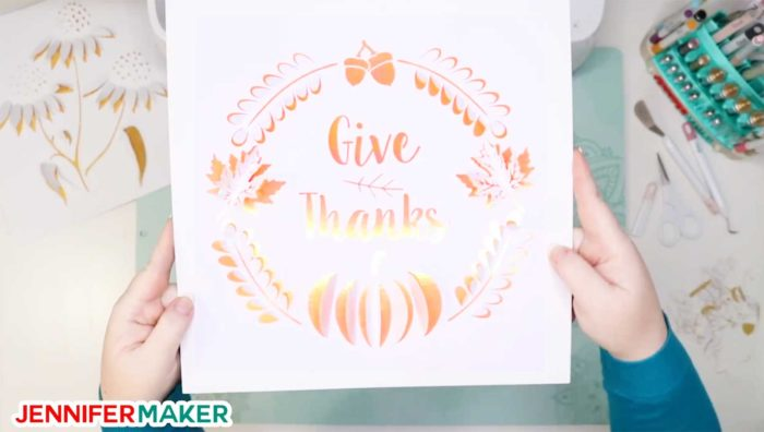 The contrasting color of paper behind your dimensional paper art really makes a difference