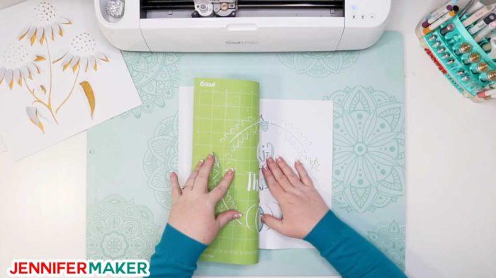 Removing the cut dimensional paper art from the Cricut cutting mat