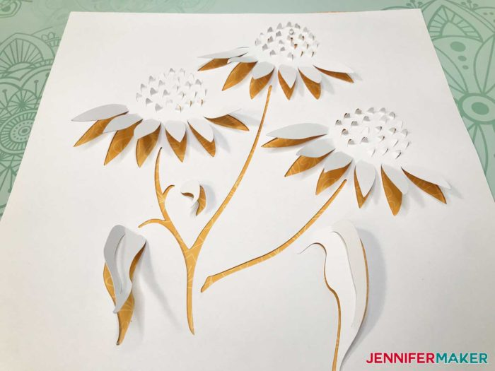 Dimensional Paper Art Flowers