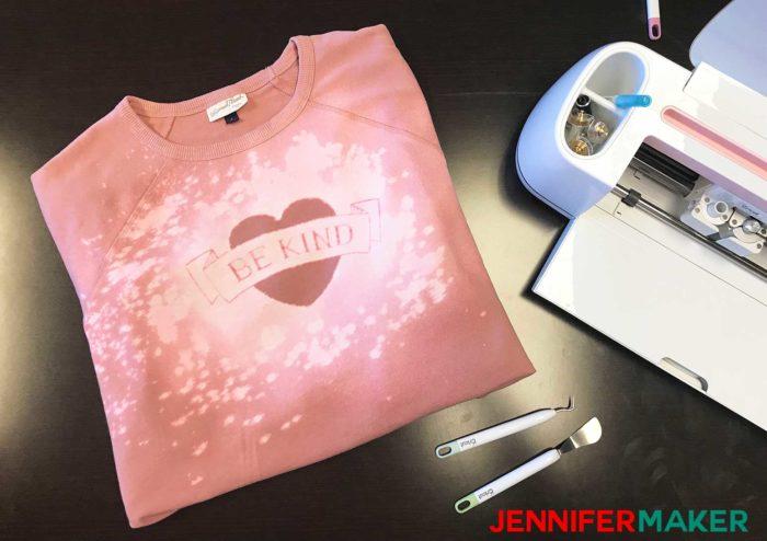 DIY Bleach Stencil Shirt in Pink