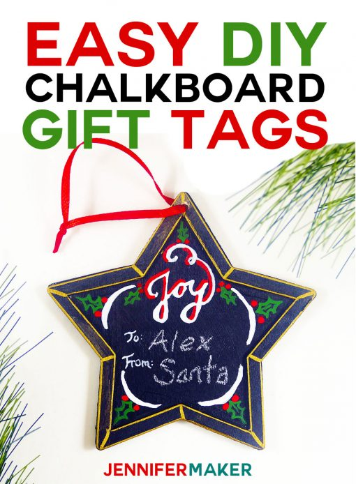 Wow! Re-use these cute Christmas chalkboard gift tags year after year—an easy and fun DIY holiday decor project!
