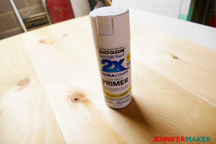 White primer spray paint for the DIY Command Center with Paper Storage Shutters