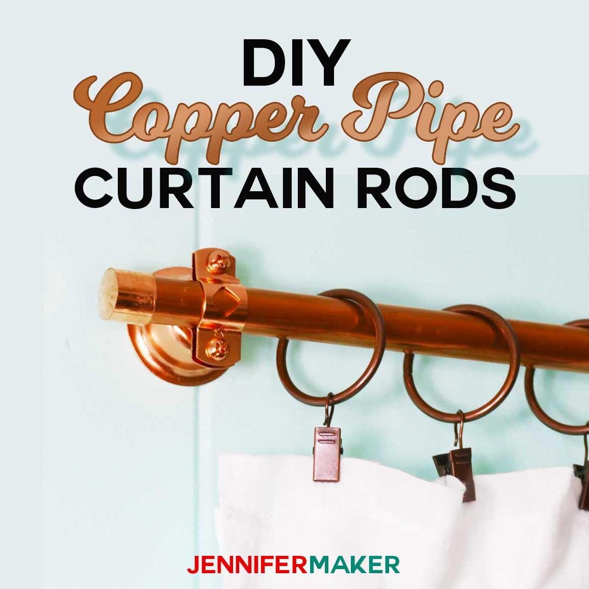 DIY Copper Pipe Curtain Rods For Under 15