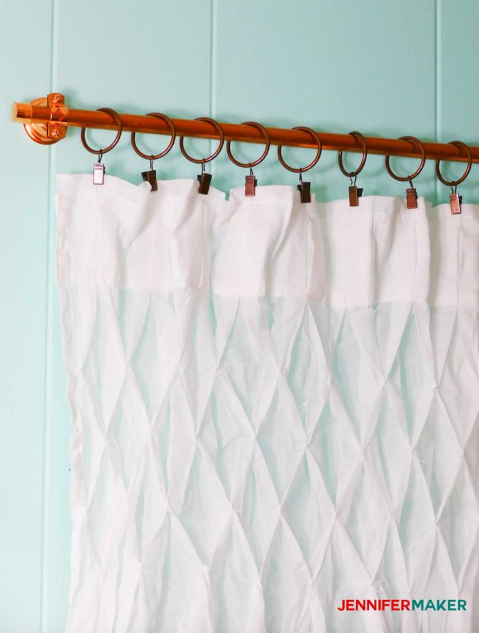 DIY Copper Pipe Curtain Rods for under $15 | #windowtreatments #copper #curtains #diy