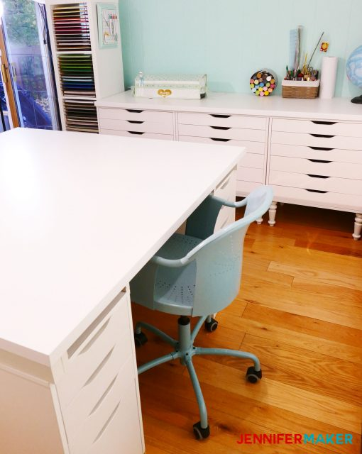 DIY Craft Table with Storage | Ikea hack | work table | large white craft table | cheap craft table