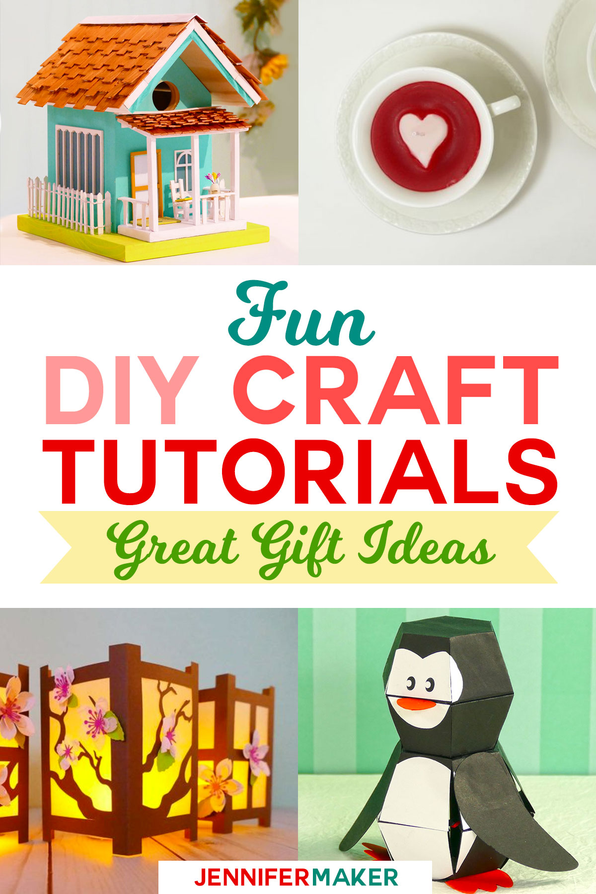 DIY Craft Tutorials, Fun to Make! | papercrafts | birdhouses | pop-up toys | teacup candles | full step-by-step tutorials and patterns! #diy #crafts #diygifts