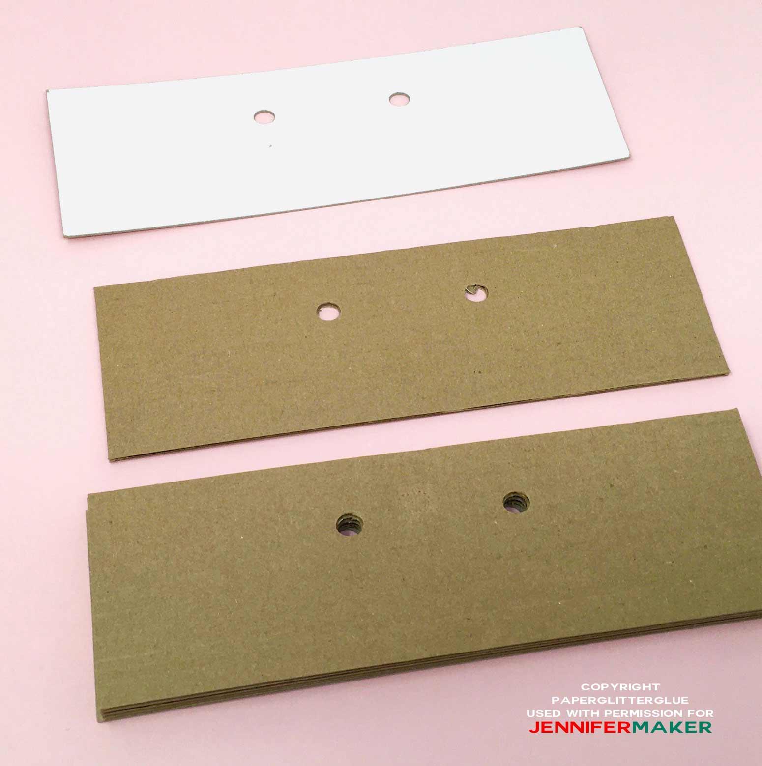 Corrugated cardboard for base of cuckoo clock