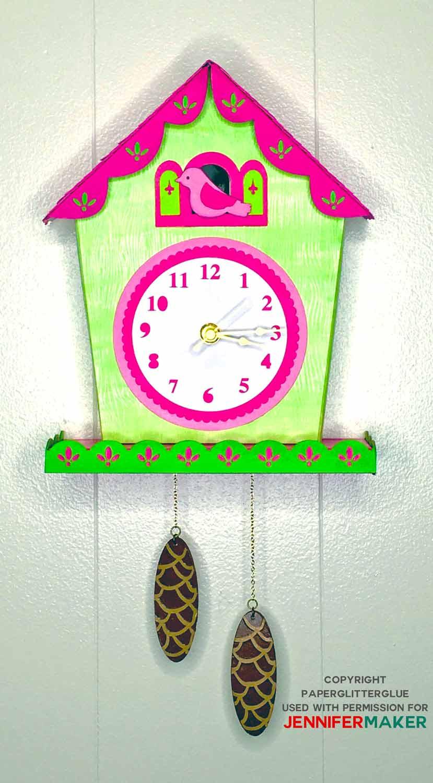DIY Cuckoo clock on wall