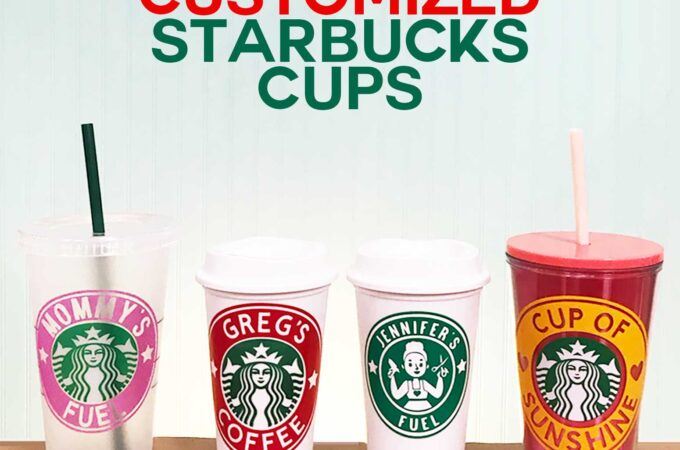 DIY Customized Starbucks Cups Decal made with a Cricut #starbucks #coffee #cricut