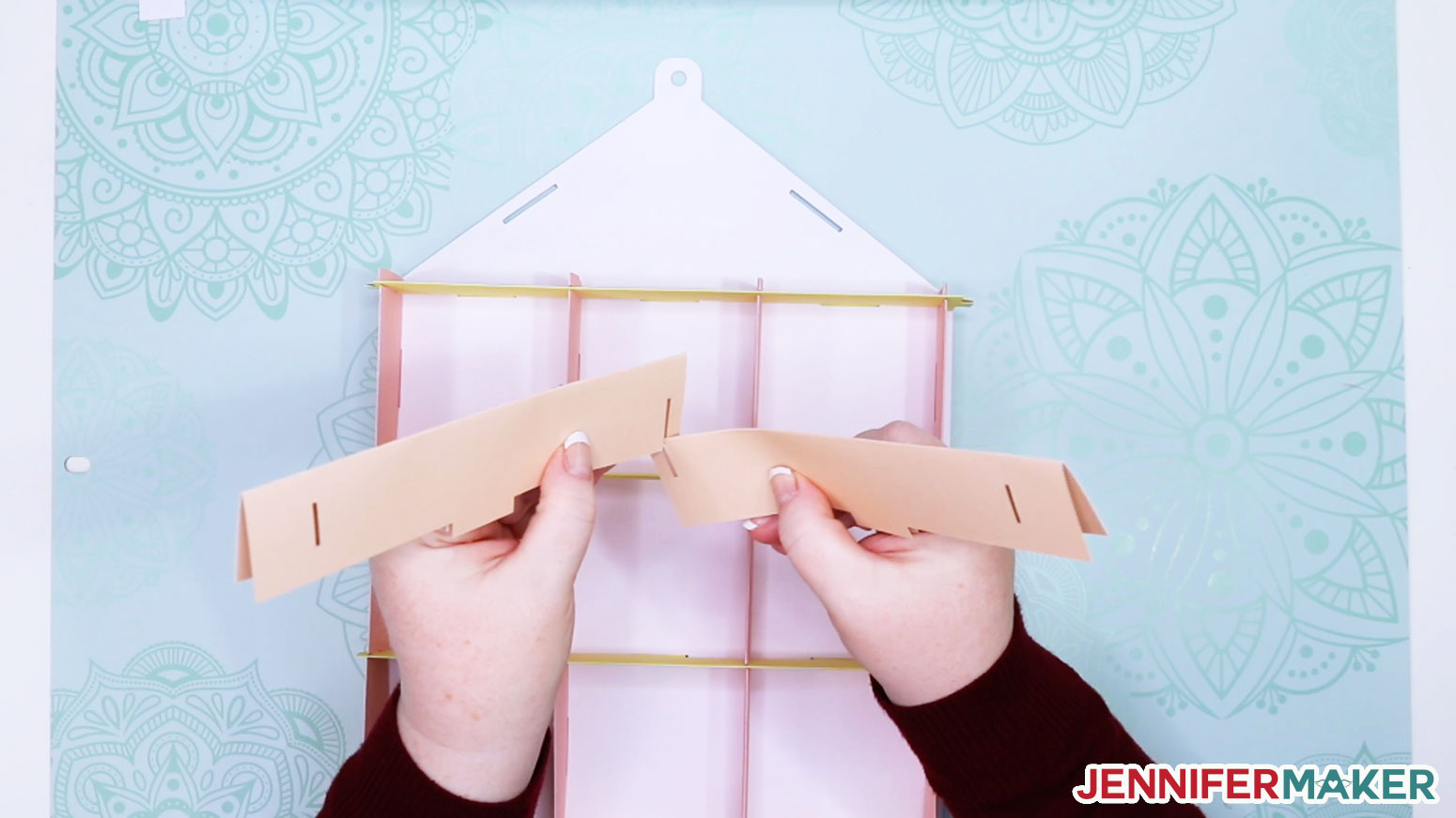 Sliding the two roof pieces together