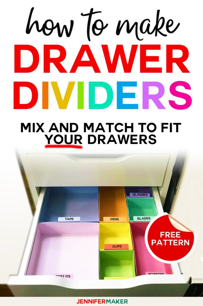 DIY Drawer Dividers - How to Organize Drawers - Cut on a Cricut to fit Ikea Alex drawers #organize #drawers #ikea