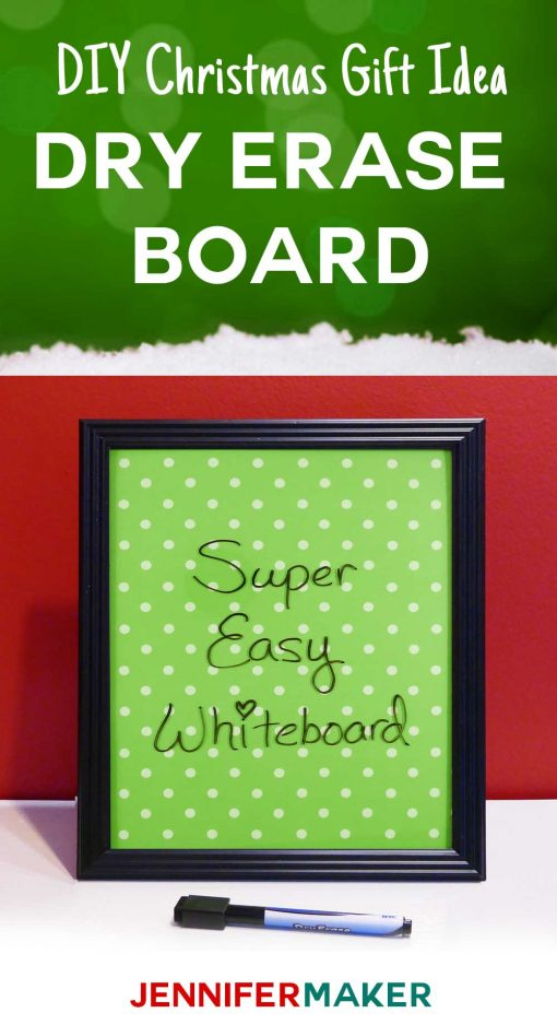 Make this easy dry erase board as a DIY #Christmas gift! I made these whiteboards for my boys one year—such an easy and fast project.