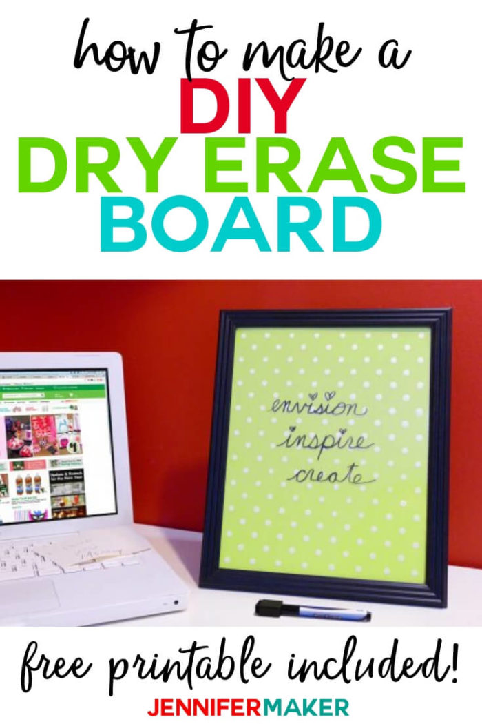 This DIY Dry Erase Board is simple to put together with only a few household supplies needed. #diy #tutorial #craftprojects #craftroom