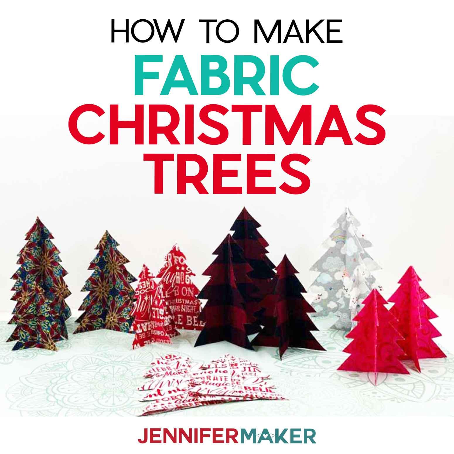 Diy Fabric Christmas Tree Jennifer Maker