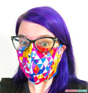 DIY Face Mask made on a Cricut Maker cutting machine