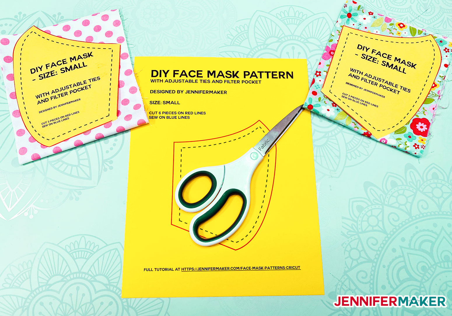 Free printable PDF for DIY Face Mask Patterns