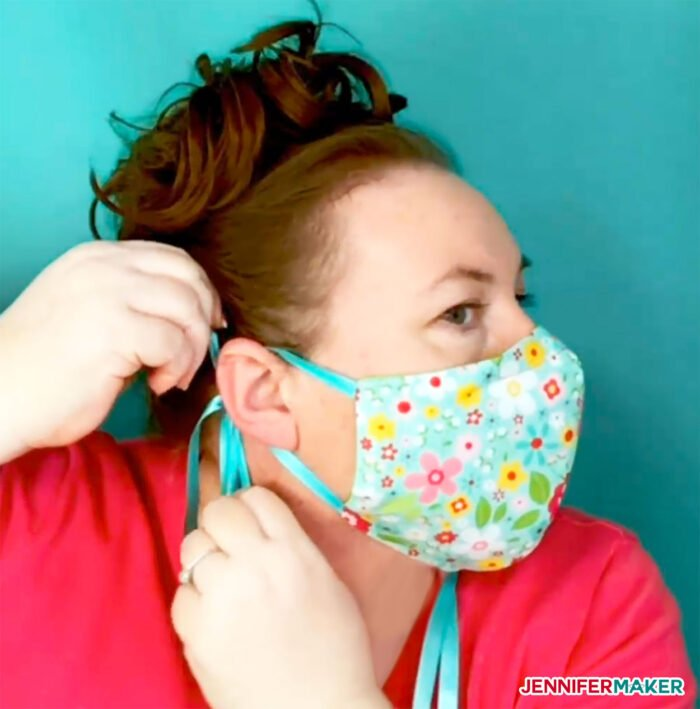 Adjustable ties on a DIY face mask give you a better fit