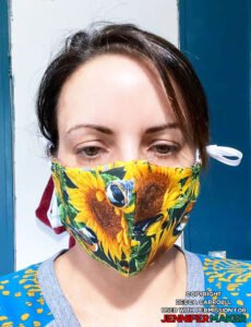 Homemade face mask made by Becca Carroll using the DIY Face Mask Pattern by JenniferMaker