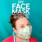Cricut Face Mask Pattern with Filter Pocket, Adjustable Ties, and Nose Guard - Free Printable Pattern and SVG Cut File for Cricut