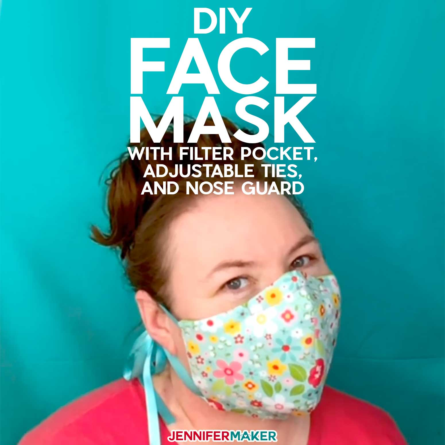 Diy Face Mask Patterns Filter Pocket Adjustable Ties Jennifer Maker