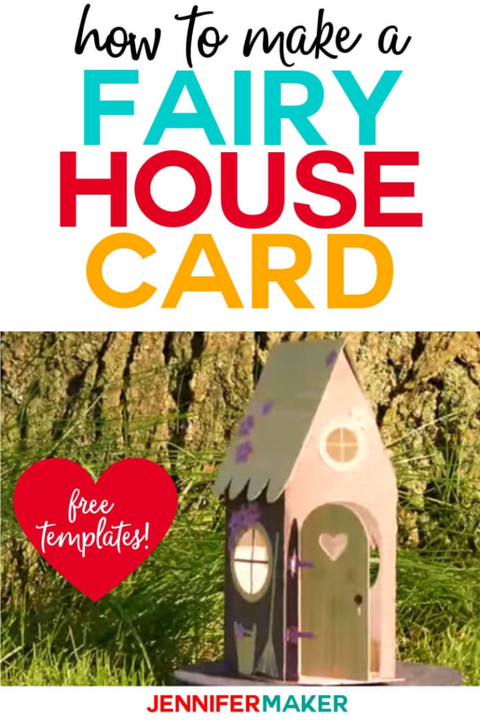 This Fairy House Card is simple to make with a step-by-step tutorial and free SVG cut file. #cricut #cricutmade #cricutmaker #cricutexplore #svg #svgfile