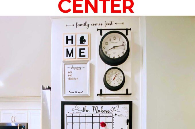 Make a Family Command Center with big organization for a small space #diyhomedecor #storage #organization