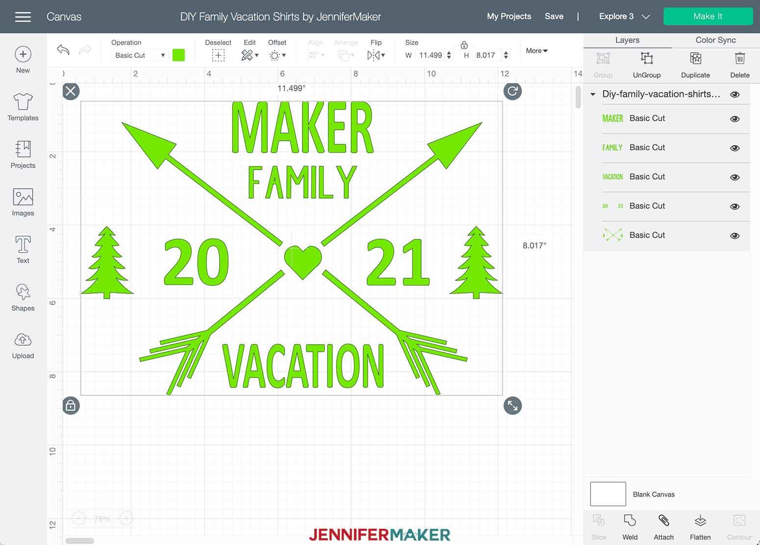 DIY Family Vacation Shirts Adventure Theme Cricut Design Space