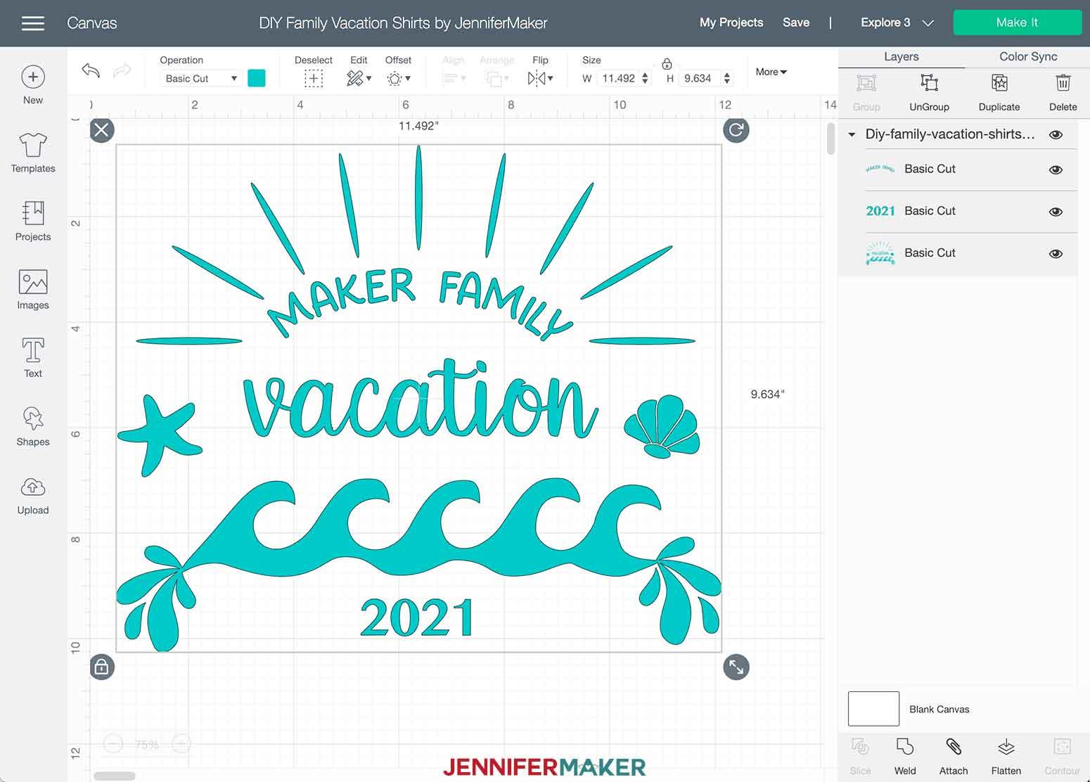 DIY Family Vacation Shirts Beach Theme Cricut Design Space