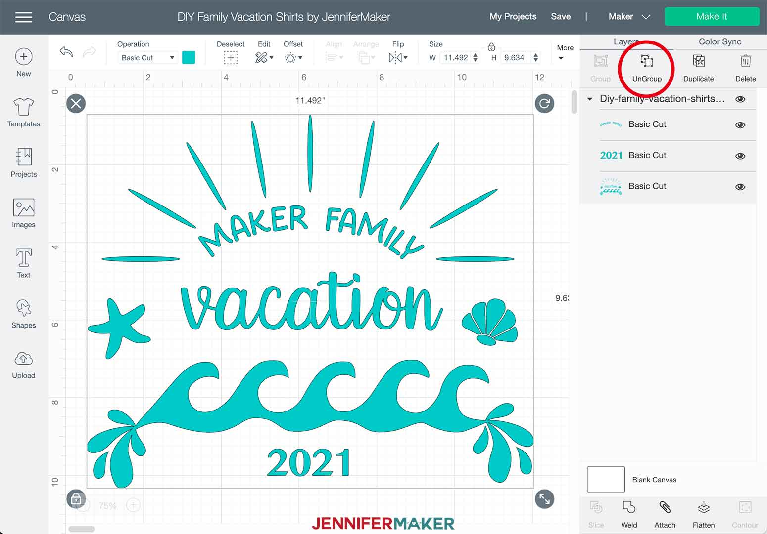 DIY Family Vacation Shirts Beach Ungroup Layers