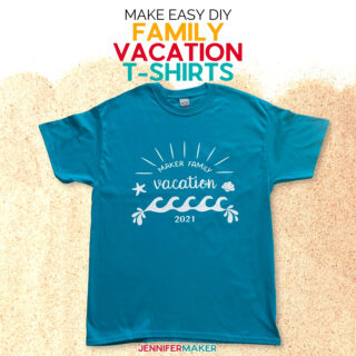 Fast & Easy Custom Family Vacation & Team Shirts Cut Without a Mat on the Cricut Explore 3