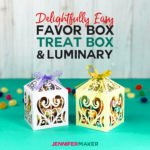 Make these DIY favor boxes for weddings, treat boxes for holidays, and paper luminaries for whenever! Includes a free filigree box template #svgcutfile #cricut #weddings #papercraft