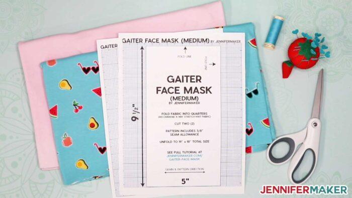 DIY Gaiter Face Mask Materials & Pattern