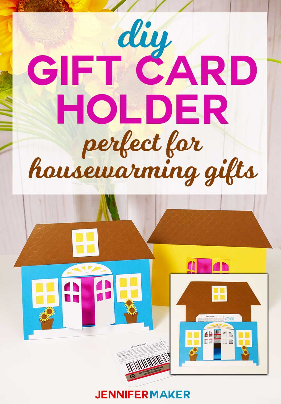 DIY Gift Card Holder is perfect for housewarming gifts and new home owners #cricut #papercrafts #giftcards #handmadegifts