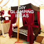 DIY Glamping Ideas and Projects for camping in style and comfort #glamping #camping #diy
