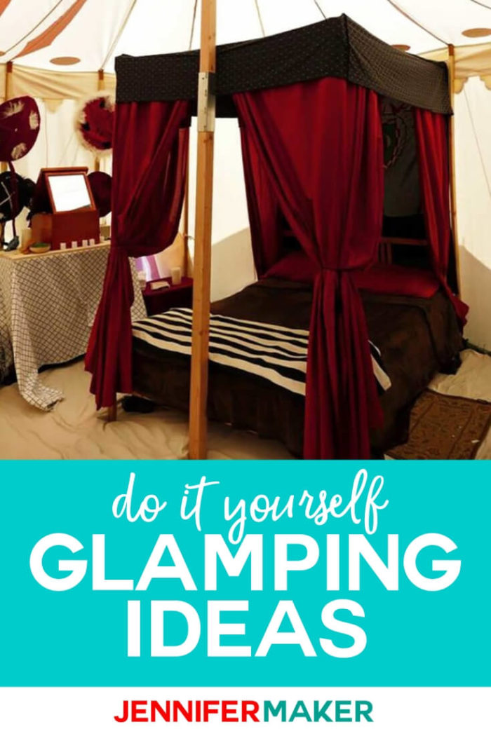 Take your summer camping trip to the next level with these DIY glamping ideas. You'll be able to enjoy some luxuries that you enjoy at home while camping.  #glamping #camping #travel