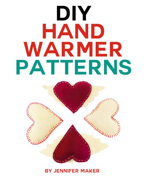 How to make DIY hand warmers! These homemade hand warmers make great gifts! You can make them with rice and wool felt for an all-natural and reusable toasty warm treat. Get the pattern and tutorial here. | free patterns