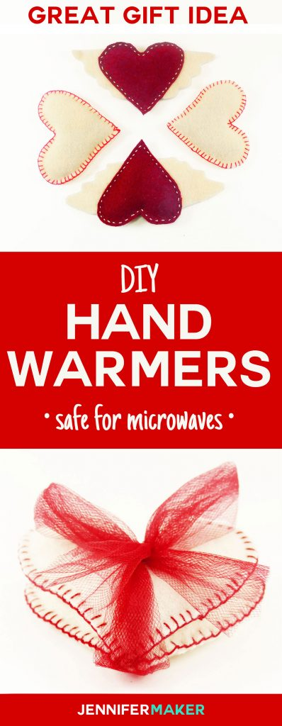 How to make DIY hand warmers! These homemade hand warmers make great gifts! You can make them with rice and wool felt for an all-natural and reusable toasty warm treat. Get the pattern and tutorial here.