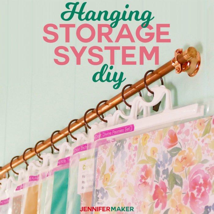 DIY hanging storage system for craft supplies and tools #craftroom #storage #hanging #organization