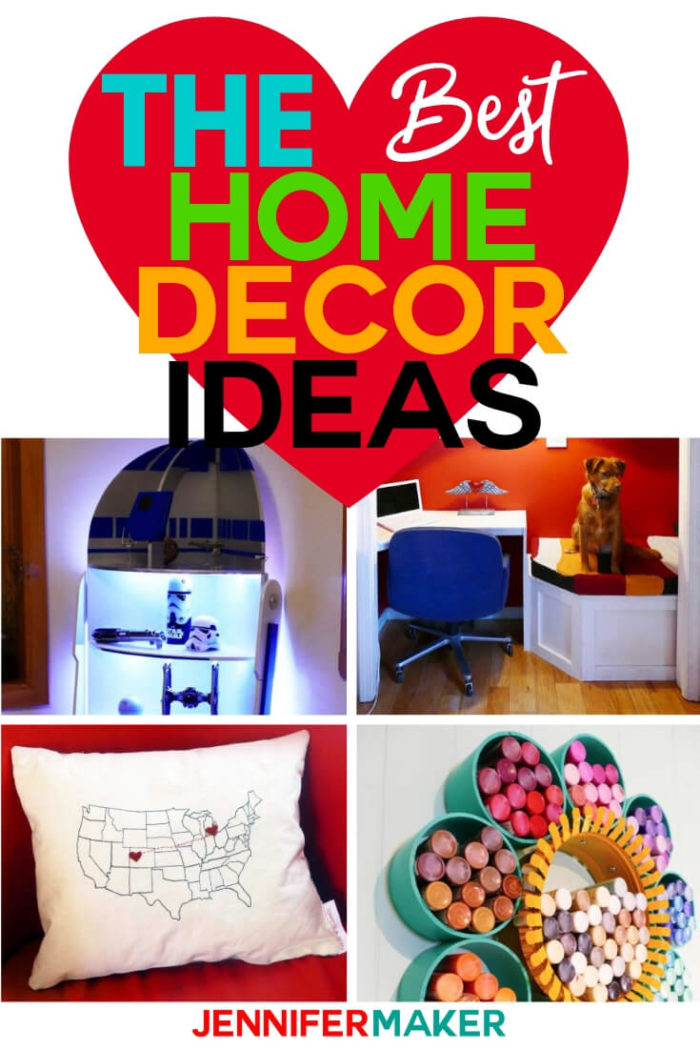 DIY Home Decor is a fun way to make your house a home, and so much more affordable than just buying it outright! These home decor projects have step by step tutorials so you can make them for your space!  #diy #tutorial #craftprojects
