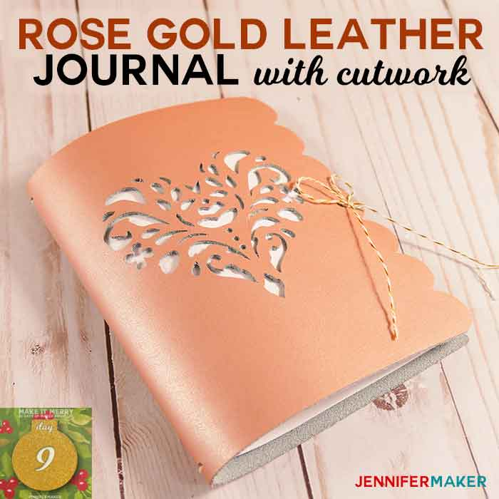 DIY Leather Journal with Cutwork made on a Cricut | Heart Rose SVG Cut File | how to cut leather on a cricut
