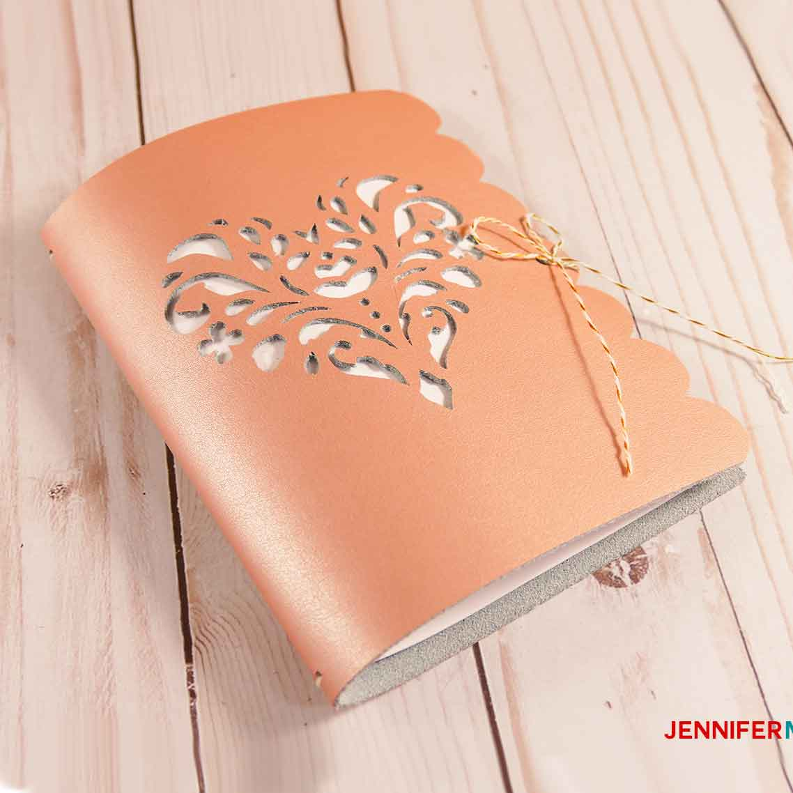 DIY Leather Journal with Cutwork made on a Cricut | Heart Rose SVG Cut File | how to cut leather - Great Cricut Maker Projects