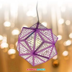 DIY Paper Hanging Lamp with intricate cuts